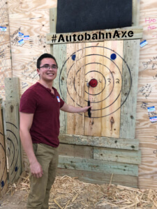 bullseye, axe throwing in Birmingham