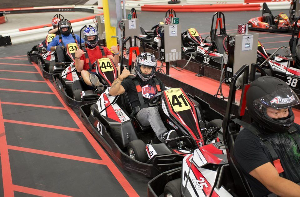 go-karting, indoor summer activity