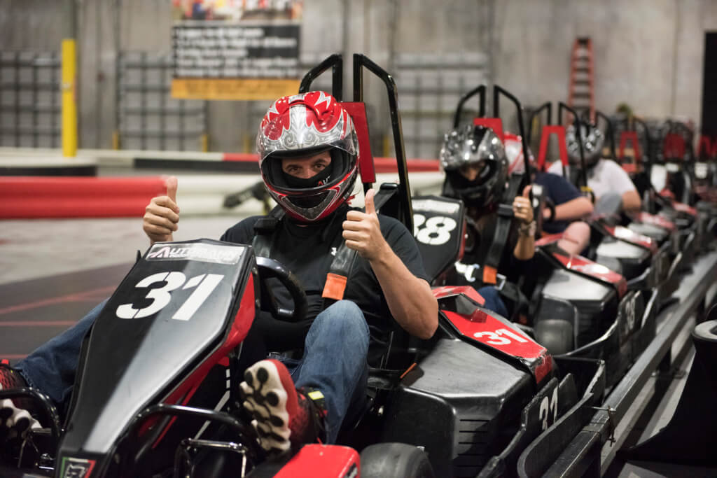 man in a go-kart, lessons you can learn from go-karting
