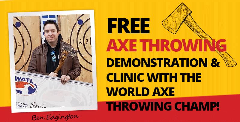 Ben - World Champ - Axe Throwing Tour